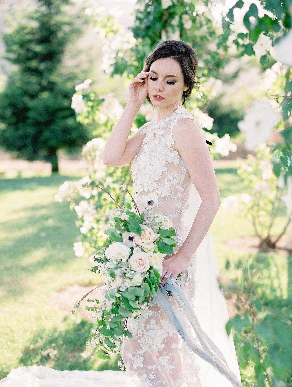 Sophisticated blue grey and gold wedding inspiration wedding
