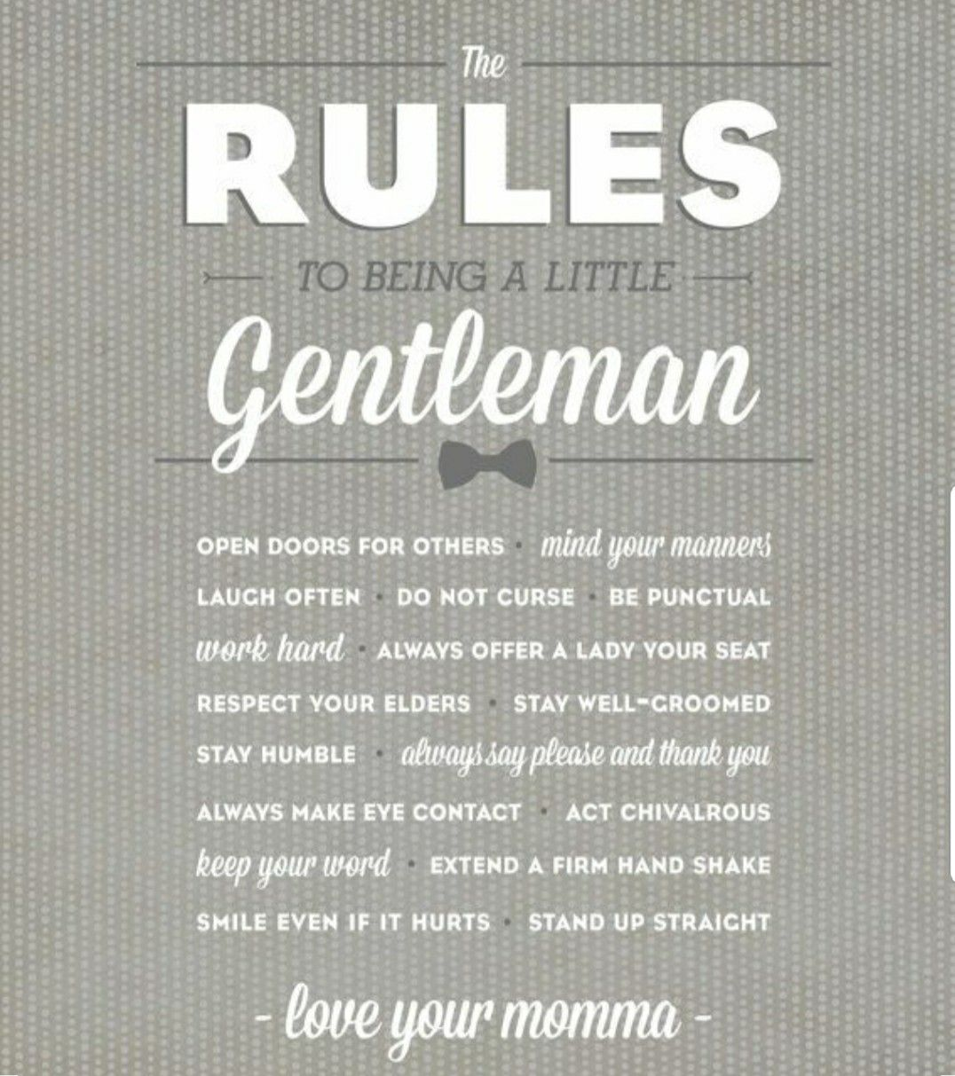 The rules to being a little gentleman    | Baby Boy Baby