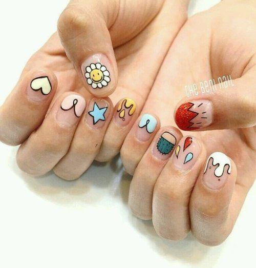 Cute Summer Nail Art Cute Summer Nails Gel Nails Nails