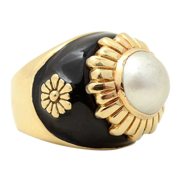 1stdibs - Gold, Enamel and Pearl Ring explore items from 1,700  global dealers at 1stdibs.com
