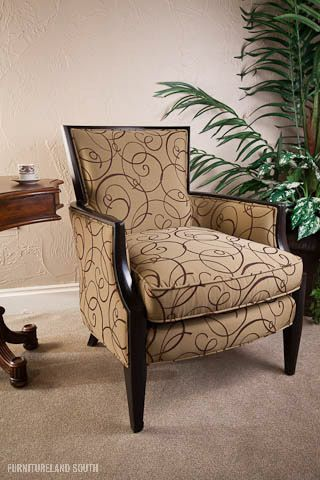 Sam Moore Nadia Chair With Whispy Printed Fabric