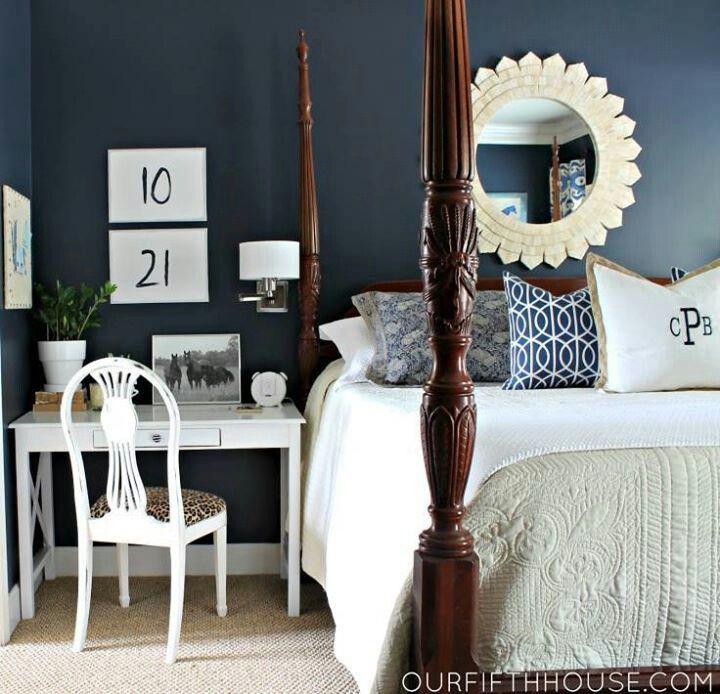 Martha Stewart S Wrought Iron Paint Remodel Bedroom Blue Bedroom Blue White Bedroom