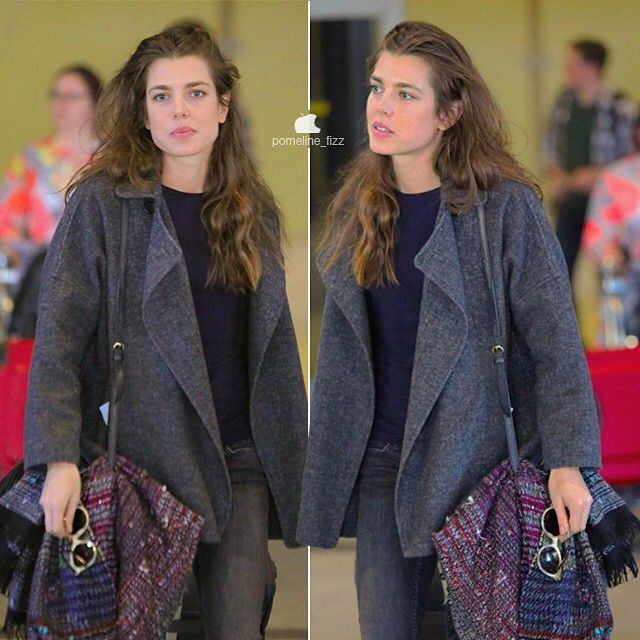Charlotte Casiraghi landing in Los Angeles to support Gad Elmaleh who will be performing there.