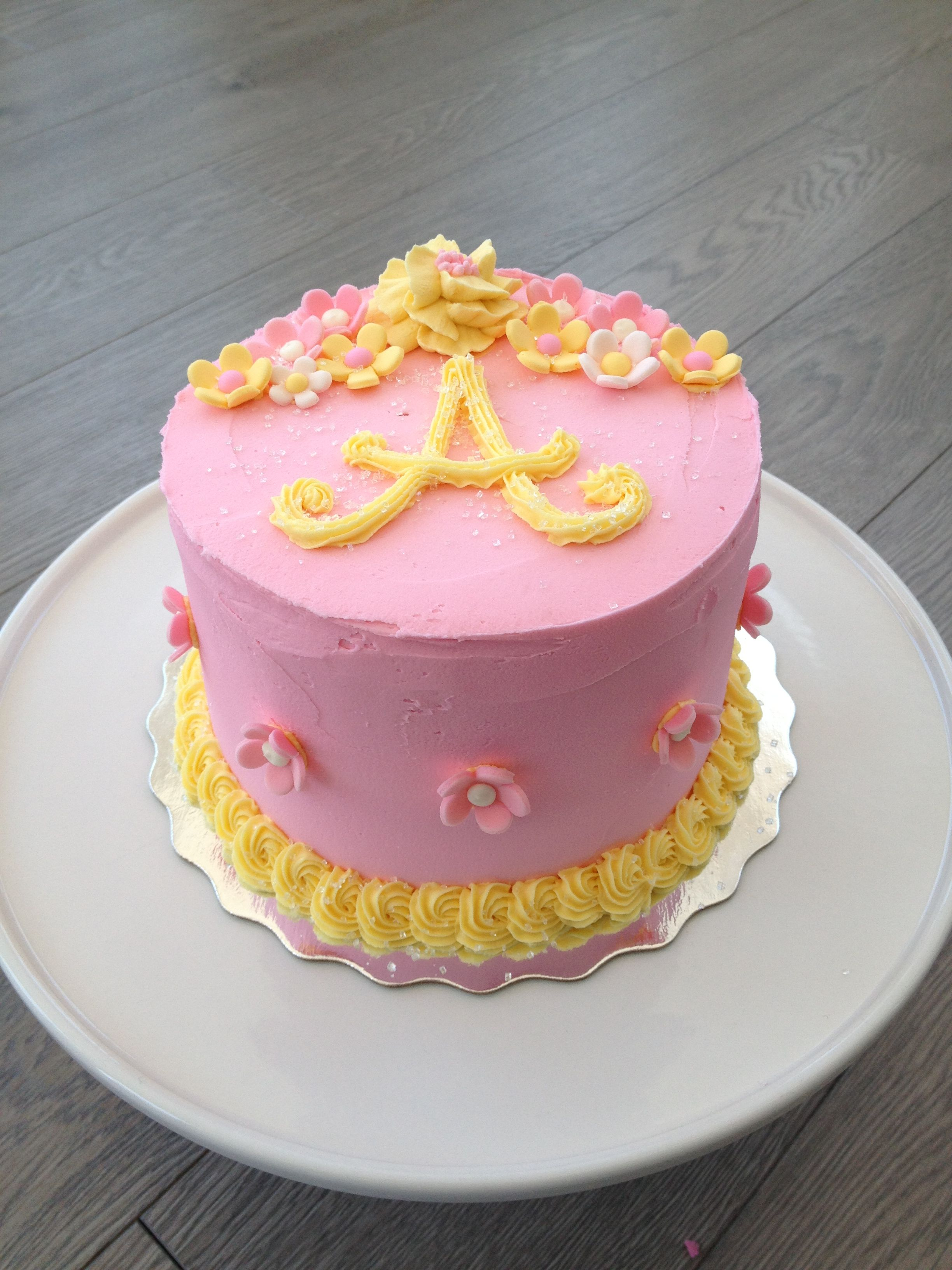 Pink Yellow Birthday Cake Party Ideas Pinterest Yellow