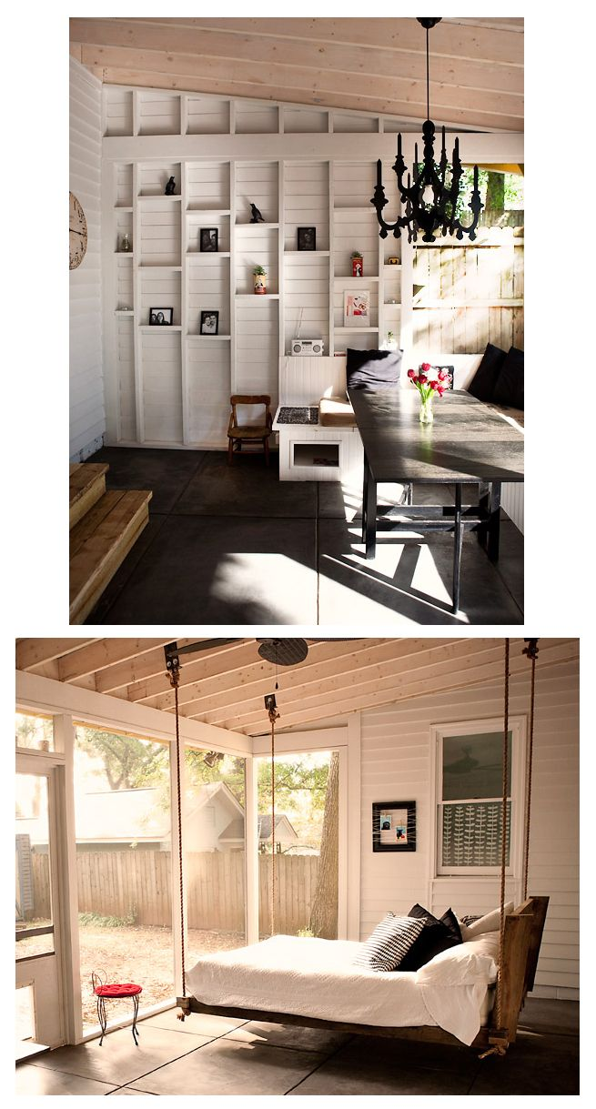 Hanging loft bed ideas  My Sleeping Porch  Hanging beds Porch and Sleeping porch