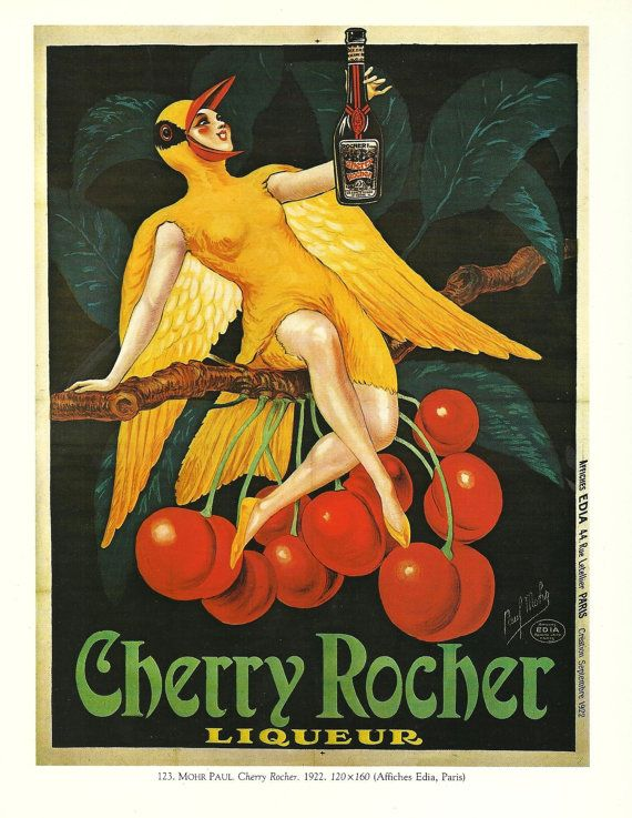 Vintage French WINE Advertisement Poster