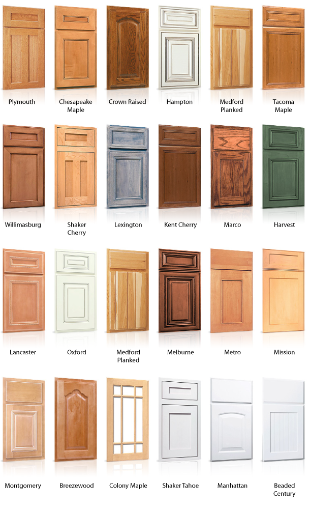 Kitchen cabinet door styles kitchen cabinets kitchens for Different types of doors for houses