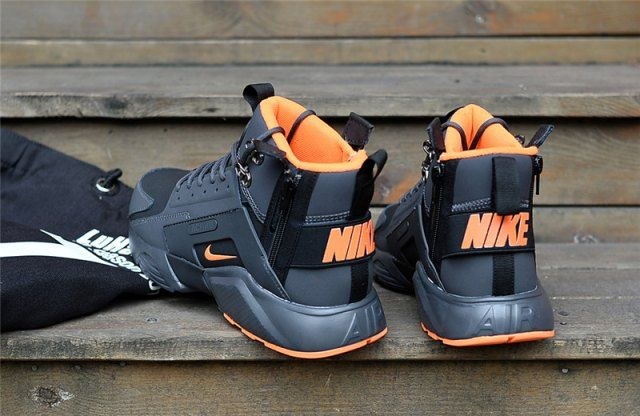 new style 142b6 c5b56 New Arrival NIke Huarache X Acronym City MID Leather Winter Men s Running Sports  Shoes Carbon   Orange