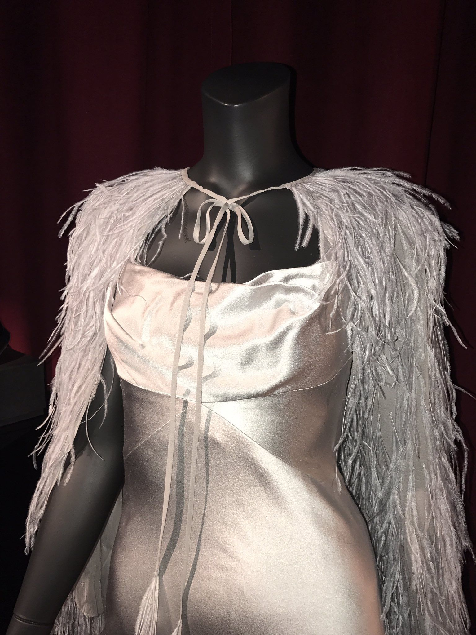 A close up of the gown that Anastasia wears to the masquerade ball ...
