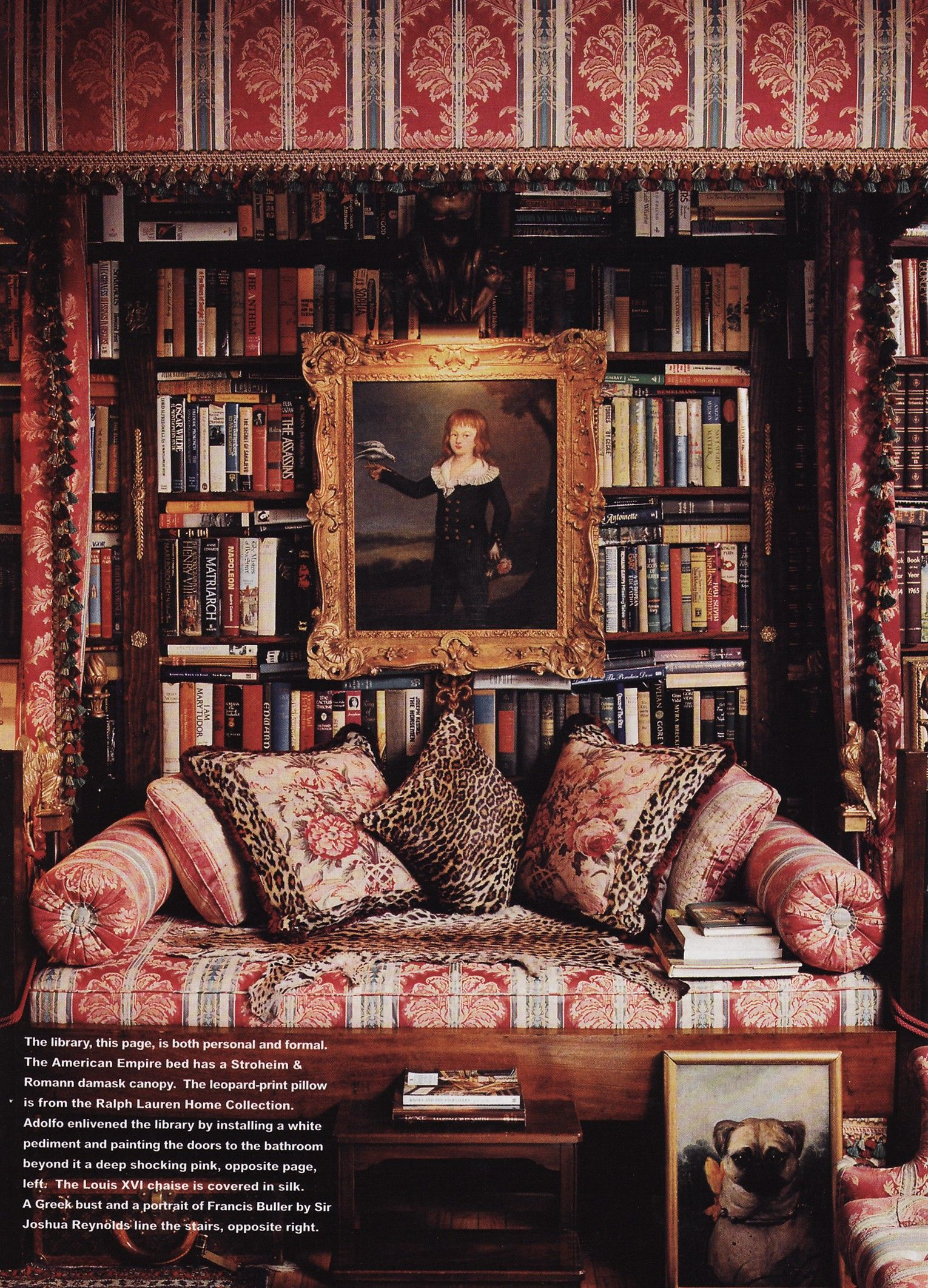 A Lovely Library Corner Complete With A Perfect Pillow Set