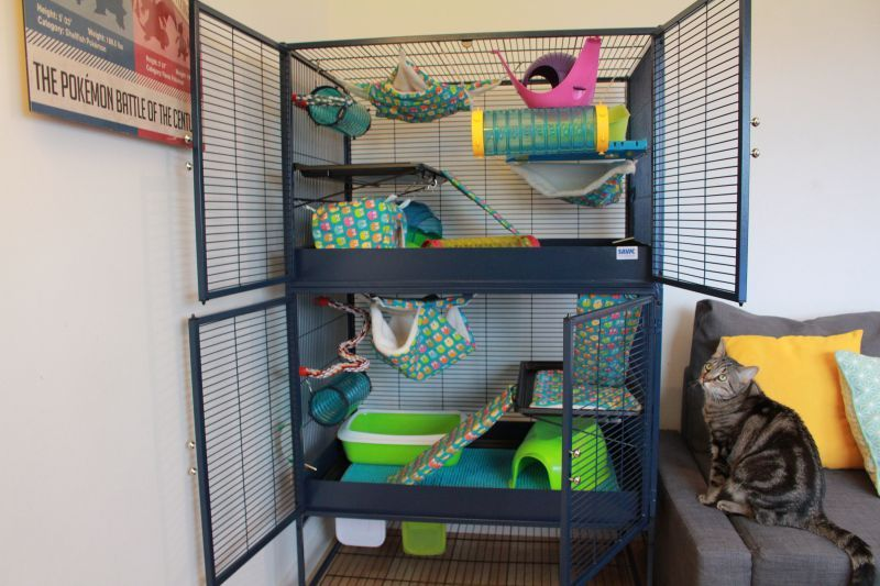 Savic Royal Suite 95 Double Ferret Cage Great Deals At Zooplus Ferret Cage Ferret Cage