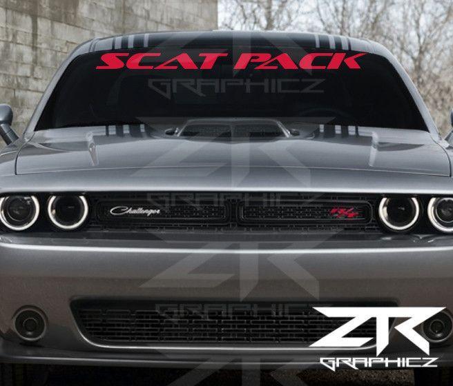 Custom Dodge Challenger ScatPack Windshield Decal