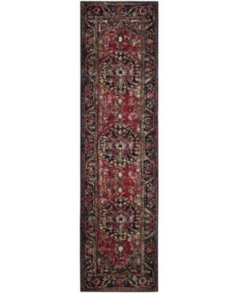 Safavieh Vintage Hamadan Red And Multi 2 2 X 12 Runner Area Rug
