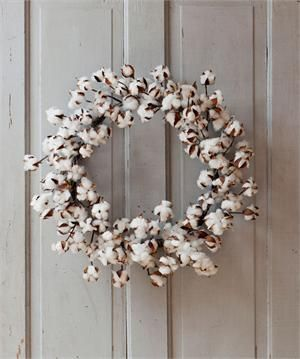 Large Cotton Wreath, Raw Cotton Wreath, Wreath for Spring