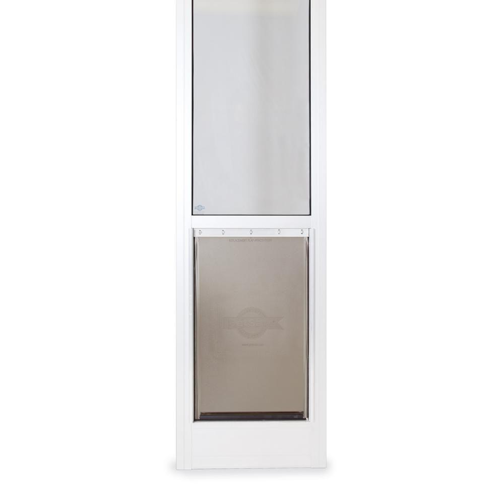 Petsafe 10 1 4 In X 16 3 8 In Large White Freedom Patio Panel 76 In To 81 In Pet Door Ppa11 13129 Pet Door Sliding Pet Door Sliding Glass Door