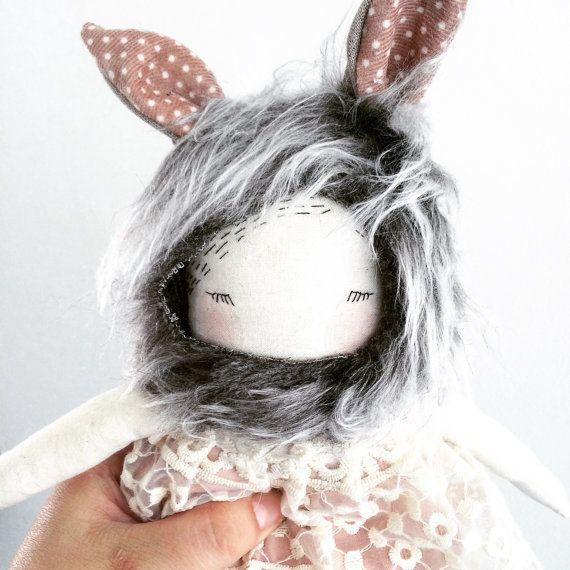 Puppa wolf doll 'Layra' handmade cloth doll by poppyandowl on Etsy