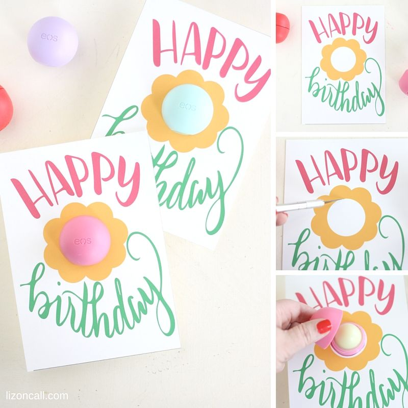 Free Printable Eos Happy Birthday Gift Card With Images Happy