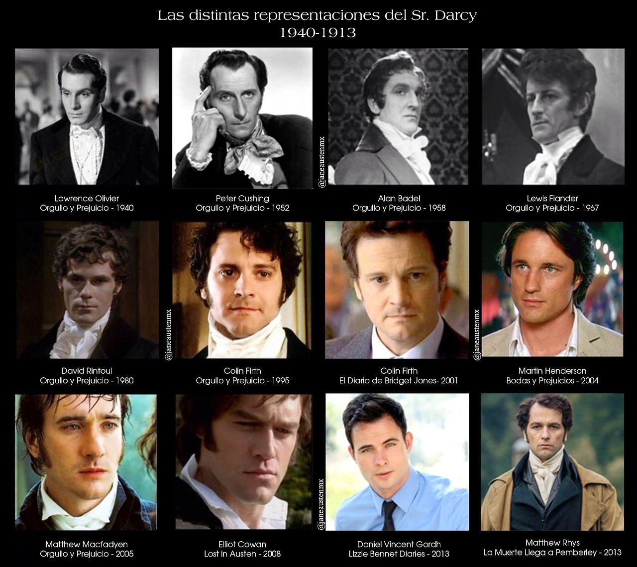 Sr Darcy Jane Austen Orgullo Y Prejuicio Rostros