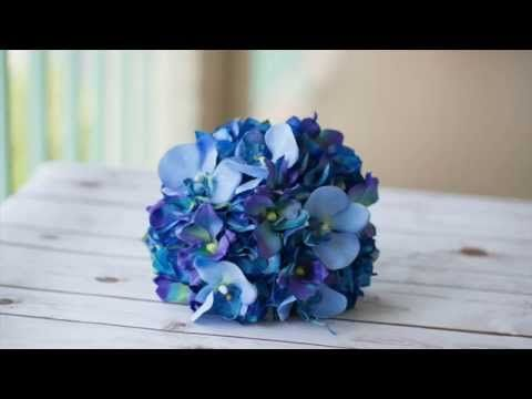 How to Blue Orchid Bouquet