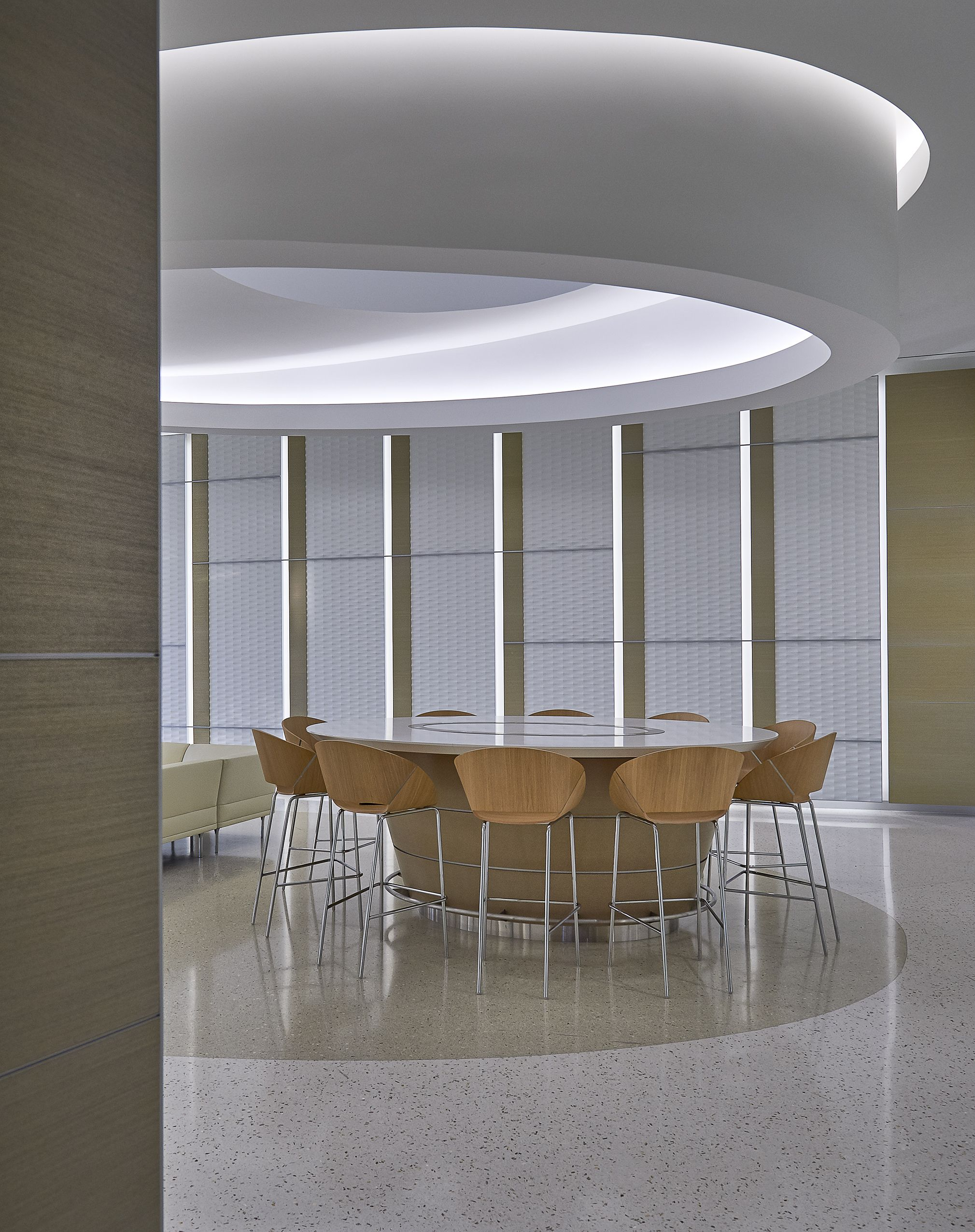 Alcon Experience Center  Healthcare design, Design, Dining chairs