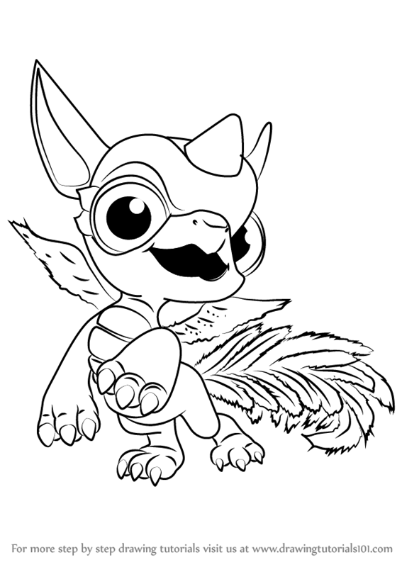 Skylanders hot head coloring pages ~ Learn How to Draw Breeze from Skylanders (Skylanders) Step ...