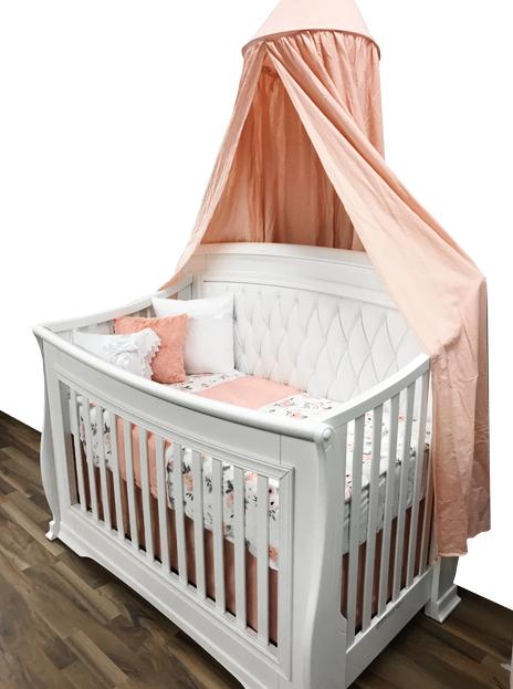 Une Magnifique Literie Pour Bebe Fille Avec Couverture Coussin Et Ciel De Lit Literie Bebe Fille Literie Bebe Lit Bebe Fille