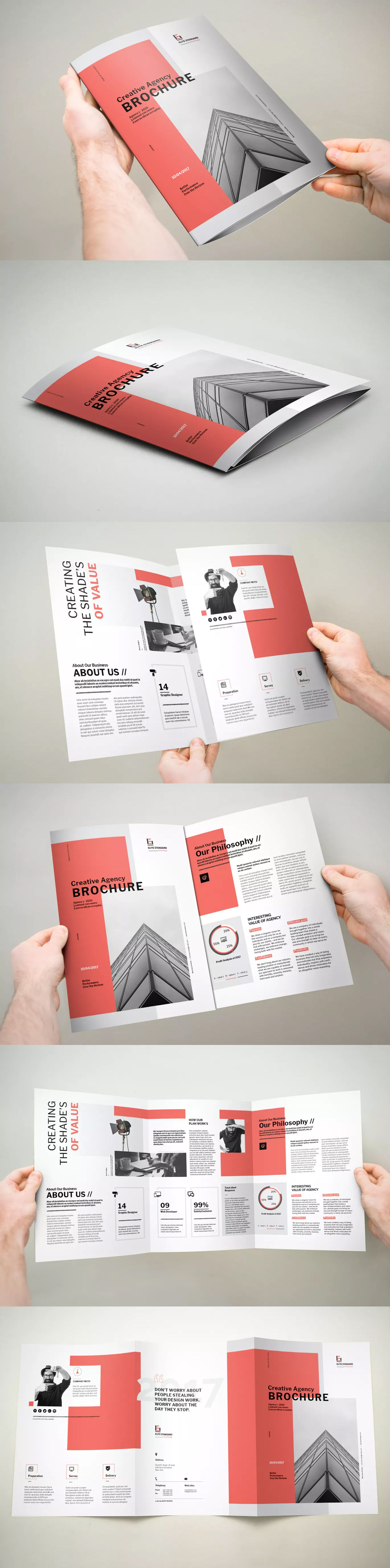 3xA4 Trifold Brochure Template InDesign INDD - A4 | Brochure design ...