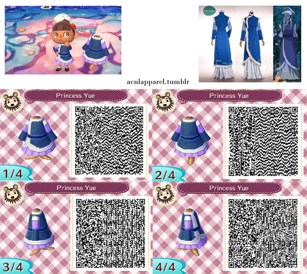 Princess Yue From Avatar Qr Code Qr Codes Animals Animal Crossing Qr Qr Codes Animal Crossing
