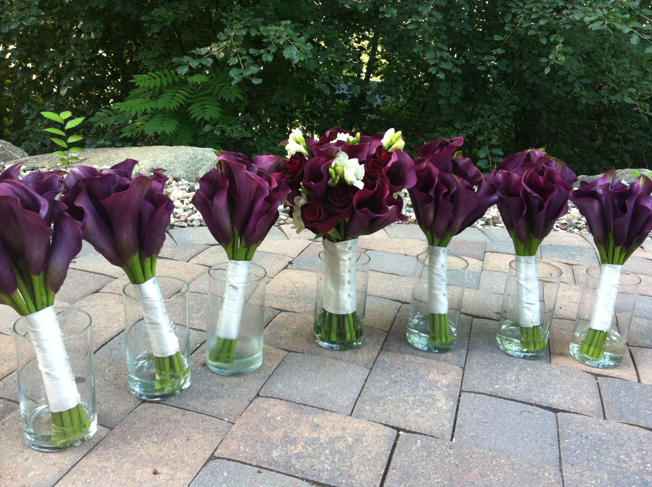 Plum Wedding Wine Wedding Purple Calla Lilies All Calla Lily