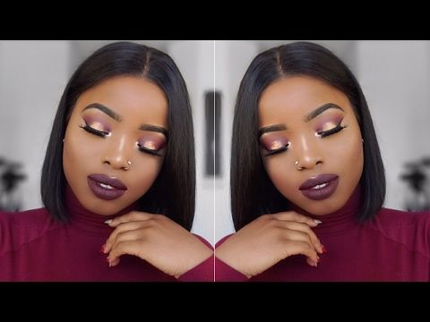 Grwm Makeup Hair Glowy Monochromatic Makeup Look Diy Bob Wig Women Lipstick Short Bob Wigs Bob Wigs Today's video is a grwm / black smokey eye makeup tutorial. grwm makeup hair glowy monochromatic