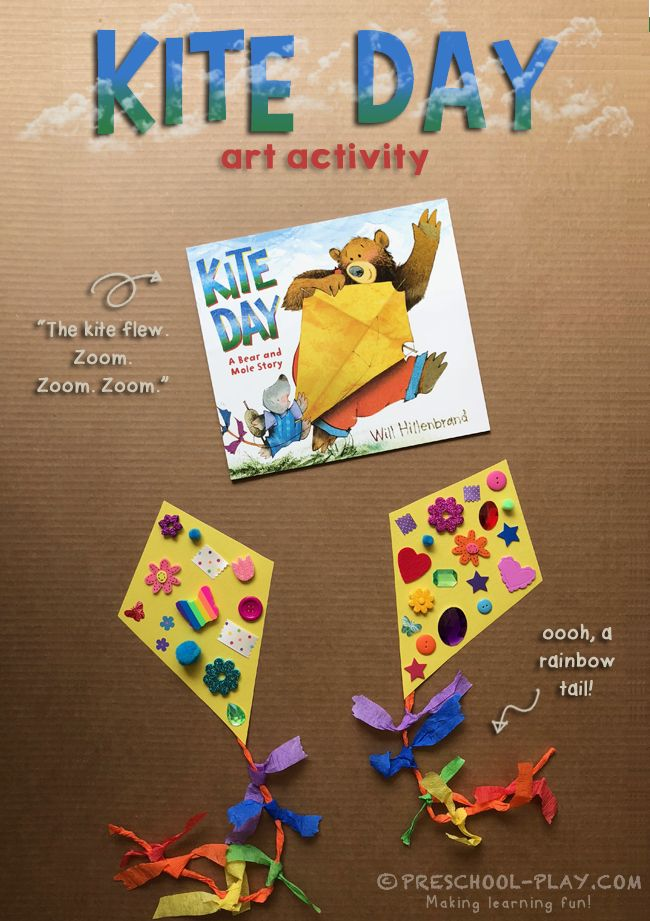 Kite Day: A Bear and Mole Story Art Activity | Preschool Play