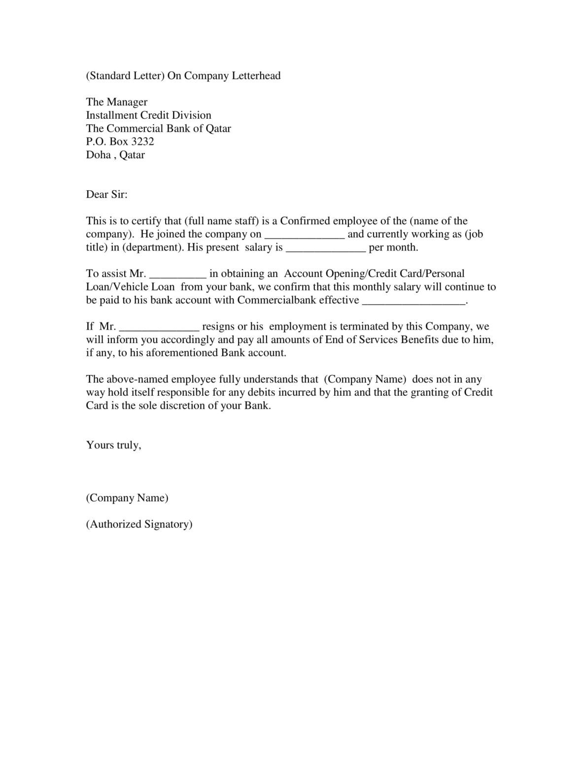 14+ Employment Verification Letter Examples Pdf, Doc in