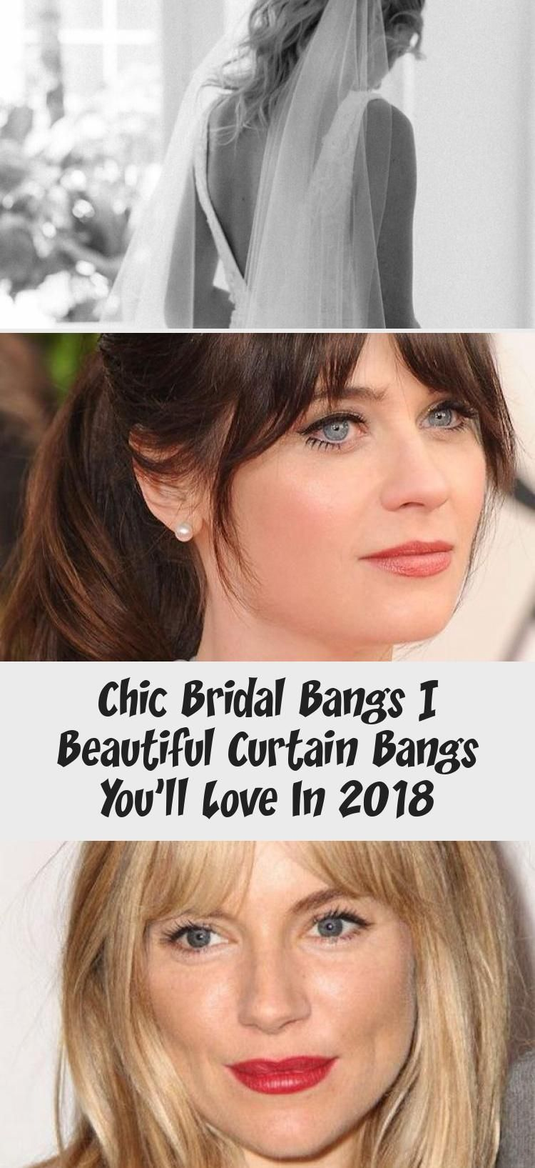 Chic Bridal Bangs | Beautiful Curtain Bangs You'll Love In 2018 #curtainbangs BRIDAL BANGS_loose waves with curtain bangs 12 #HowToMakewavyhair #wavyhairPonytail #wavyhairLayers #wavyhairKorean #Messywavyhair #curtainbangs