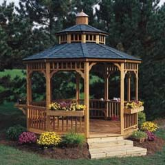 Cedar gazebo building kit 238 free do it yourself for Home hardware gazebo plans
