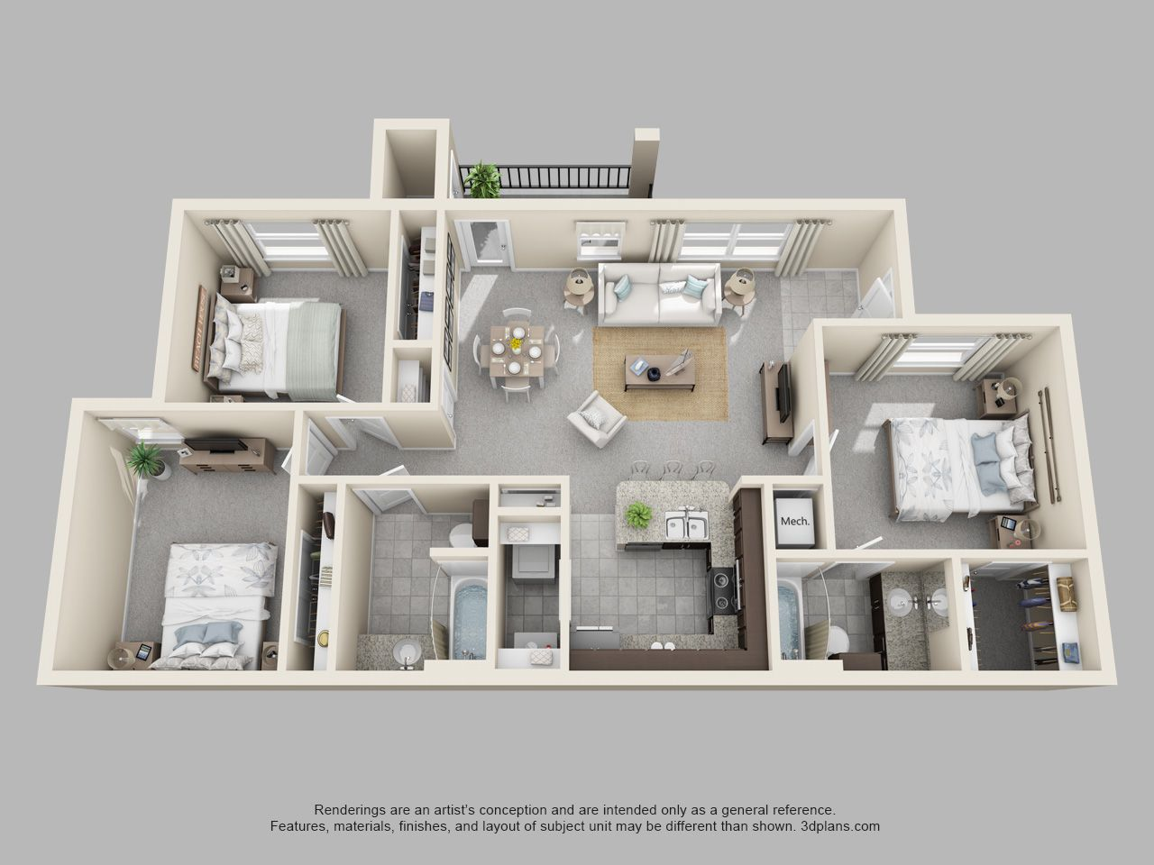 The Pointe At Cabot 3 Bedroom 2 Bath Hawthorn Floor Plan Condo Floor Plans Sims House Plans Sims House Design