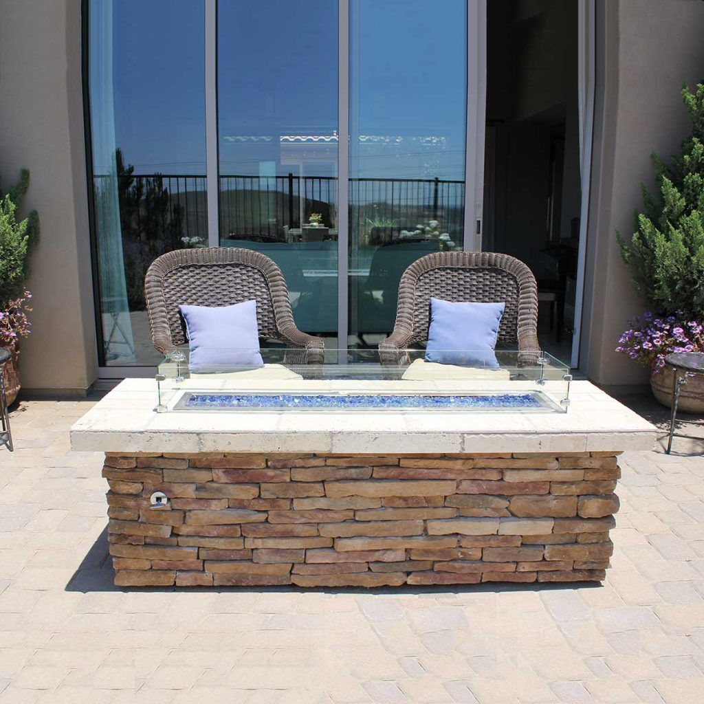 outdoor firepit nantucket stacked stone - Google Search ...