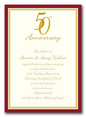 Image Result For 50th Wedding Anniversary Invitations Free