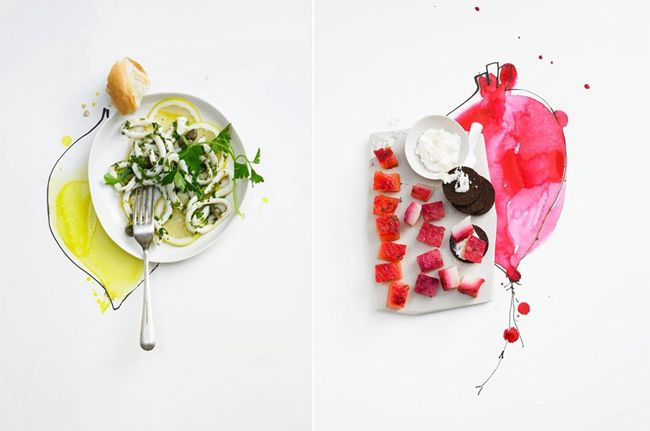 food illustration photographs from Dietlind Wolf