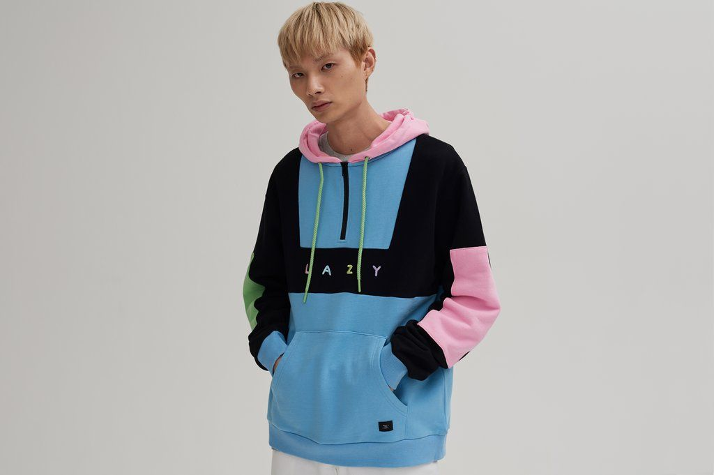 075941ae0b Lazy Oaf Colour Panel Hoodie