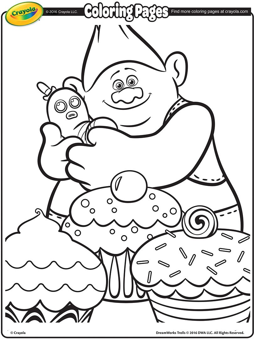 Trolls Movie Biggie Coloring Page 01 | ASC/BKC Midland | Pinterest