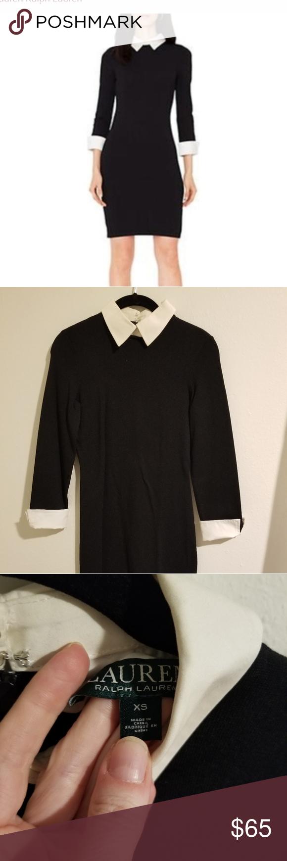 Lauren By Ralph Lauren Black And White Dress Black N White Dress White Dress Clothes Design [ 1740 x 580 Pixel ]