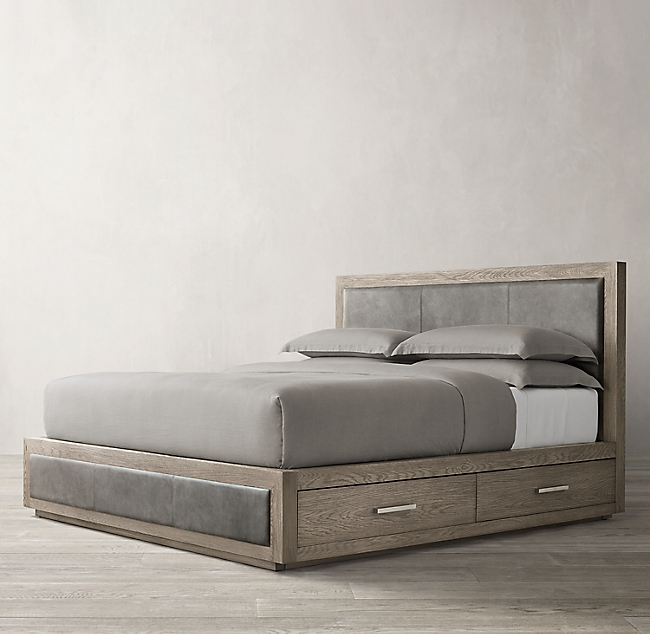Kempton Leather Storage Bed In 2020 Bed Storage Leather Bed Bed