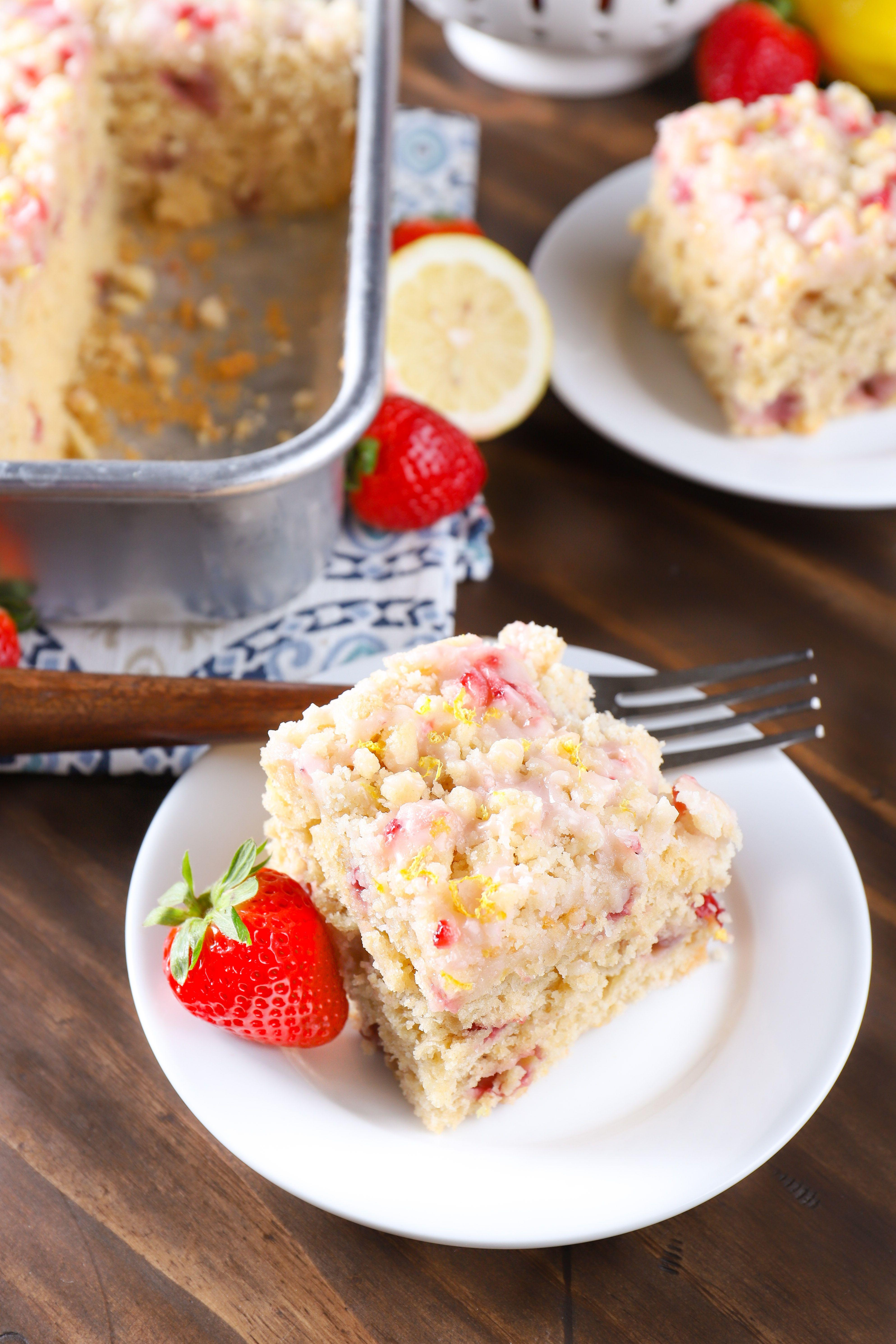 Fresh Strawberry Lemon Yogurt Cake 2020 Lemon Yogurt Cake