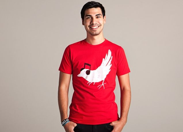 """Threadless Organic Guys tee """"Listening to My Song"""" by Tobe Fonseca - 100% combed ringspun organic cotton. Made in USA."""