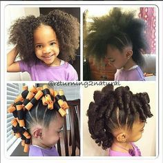 Cute Hairstyles For Black Girls 20 Cute Natural Hairstyles For Little Girls  Pinterest  Girl