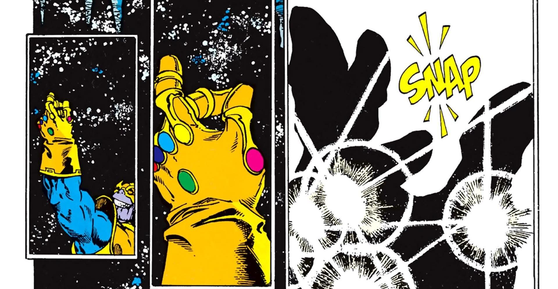 """With the snap of his fingers""""   Infinity gauntlet comic, Infinity ..."""