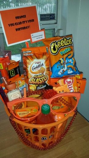 Orange Gift Basket You Glad Its Your Birthday