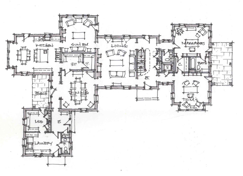 Peter zimmerman architects stone farmhouse plan progress