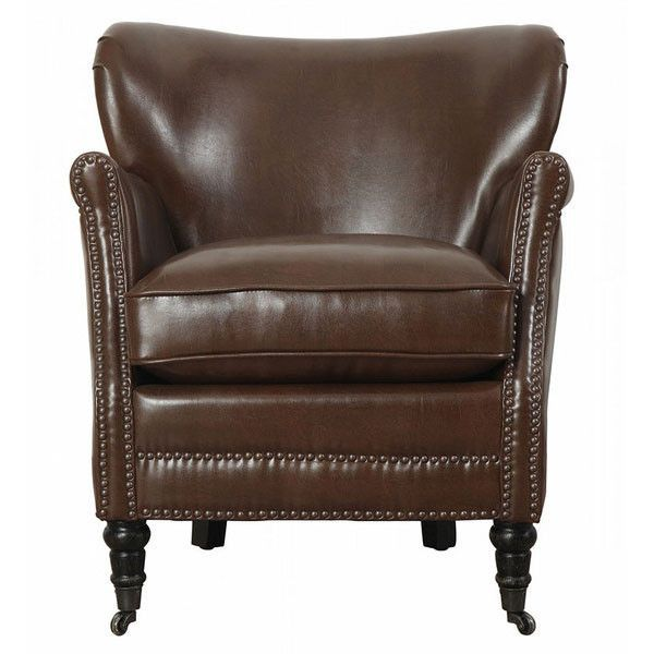 Merci Chocolate Leather Club Chair