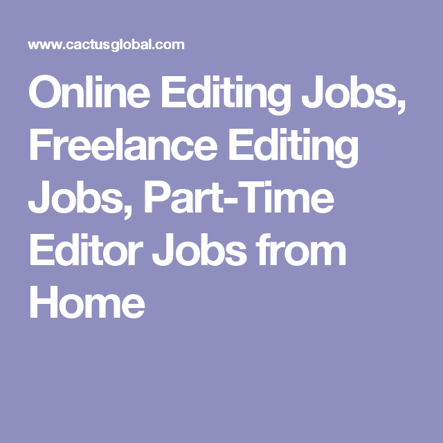 Part time editing jobs online